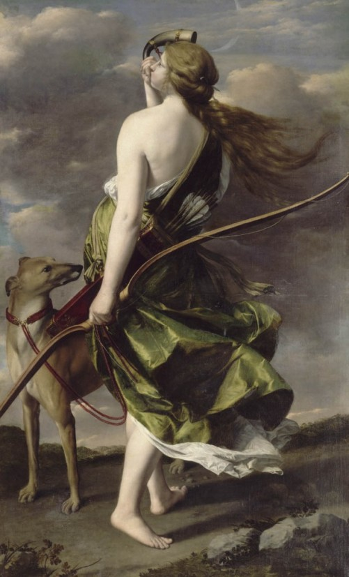Diana the Huntress by Orazio Gentileschi (via Wikimedia Commons)